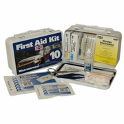 Pac-Kit, Metal Weatherproof 10 Person First Aid Kit, #6400