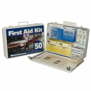 Pac-Kit Metal Weatherproof 50 Person First Aid Kit - #6450