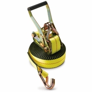 "PCC 2"" x 30 ft Ratchet Strap - Wire Hooks - 3335 lbs WLL"