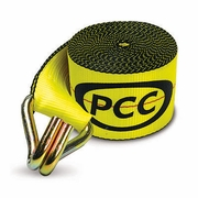 "PCC, 4"" x 30ft Winch Replacement Strap w/ Wire Hooks, #4530-WH"