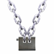 "Pewag 3/8"" Security Chain Kit - 3 ft Chain & Laclede Padlock"