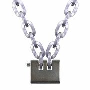 """Pewag 3/8"""" Security Chain Kit - 4 ft Chain & Laclede Padlock"""