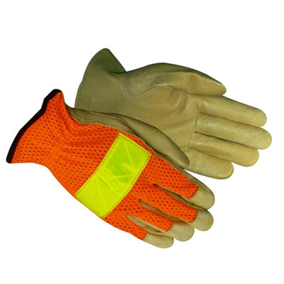 Red Steer, Reflective Leather Glove, #1600