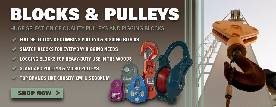 Rigging Blocks & Climbing Pulleys for Sale