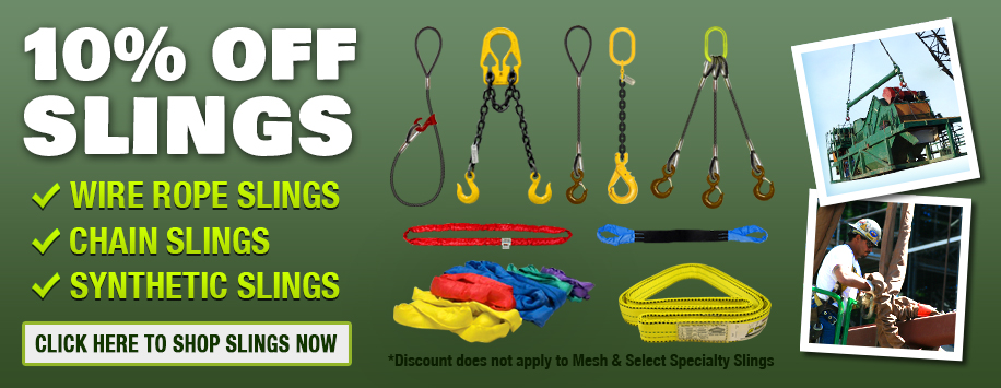 10% Off All Rigging Slings