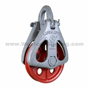 """Ropemaster 108R Half Side Rigging Block - 1/2"""" - 5/8"""" Wire Rope - 16000 lbs WLL"""