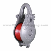 """Ropemaster 82-S Wide Throat Rigging Block - 3/8"""" - 1/2"""" Wire Rope - 9500 lbs WLL"""