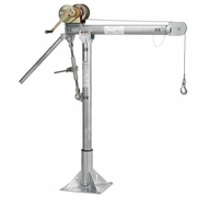 Thern, Galvanized Portable Davit Crane w/ M1 Winch, #5110M1GAL