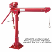Thern, Stainless Portable Davit Crane w/ M3 Winch, #5124M3SS