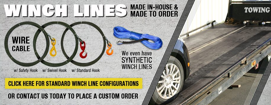 Winch Lines - Steel Cable & Synthetic