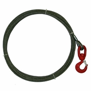 """WRS, 3/8"""" x 100ft Winch Cable w/ Swivel Hook"""