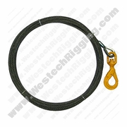 "WRS, 3/8"" x 100ft Winch Cable w/ Self-Closing Swivel Hook"