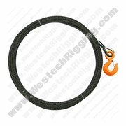 "WRS, 7/16"" x 100ft Winch Cable w/ Eye Hook"