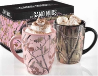 Camouflage His & Her Mugs - 2 Pc. Set