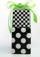 Check & Dots Duo Roll Wrap
