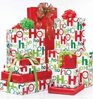 HoHoHo Holiday Jumbo Reversible Gift Wrap