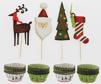 Holiday Cupcake Decorating Kit - 48 pc Set