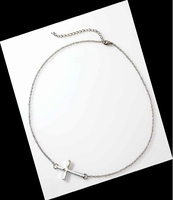 Horizontal Cross Necklace