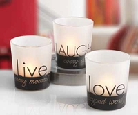 Live Laugh Love Votive Holders - 3 Pc. Set