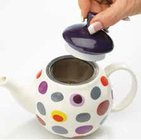 Polka Dot Bubble Teapot with Infuser