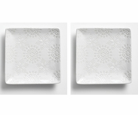Snowflake Appetizer Plates - 2 pc. Set