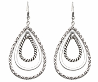 Textured Multiple Tear Drop Earrings