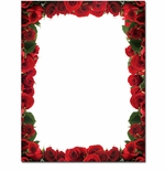 Red Roses Border Valentine's Day Printer Paper