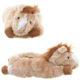Adult Horse Slippers Beige