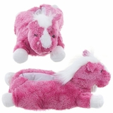 Adult Horse Slippers Pink