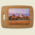 Bamboo Cutting Board - Sunset Theme
