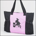Barrel Racing Tote in Pink and Black Tote