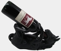 Black Wine Holder Horse