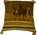 Brown Running Horse Tapestry Pilllows