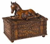 Carved Horse Box