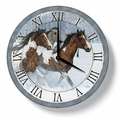 Clock - Winter Horse