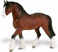 Clydesdale Blue Ribbon Horse Model