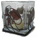 Cowboy Boots and Hat Votive Candle Holder