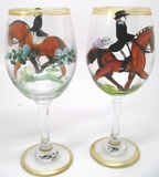 Dressage Wine Glass set of 2 by Frederique