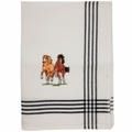 Embroidered Horses on Tea Towel (set of 2)