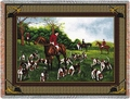 Fox Hunting Cotton Throw