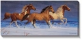Freedom - Horses Wrapped Canvas Art by Chris Cummings