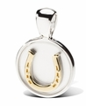 Gold Horseshoe Pendant by Lisa Welch with chain