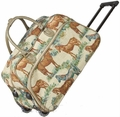 Horse 21-inch Carry On Rolling Upright Duffle Bag