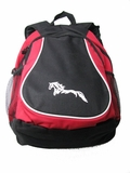 Horse Backpack - Red and Black with Riatta Design