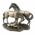 Horse Family in Cold Cast Bronze