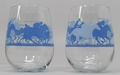 Stemless Wine Glasses set of 4 (Horse Racing)
