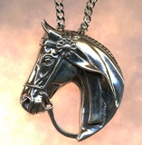 Horse Head with Ribbon Pendant