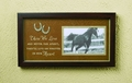 Horse Shadow Box Photo Memorial