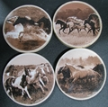 Horses on Sandstone Coasters