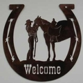 Horseshoe Welcome Sign - My Baby